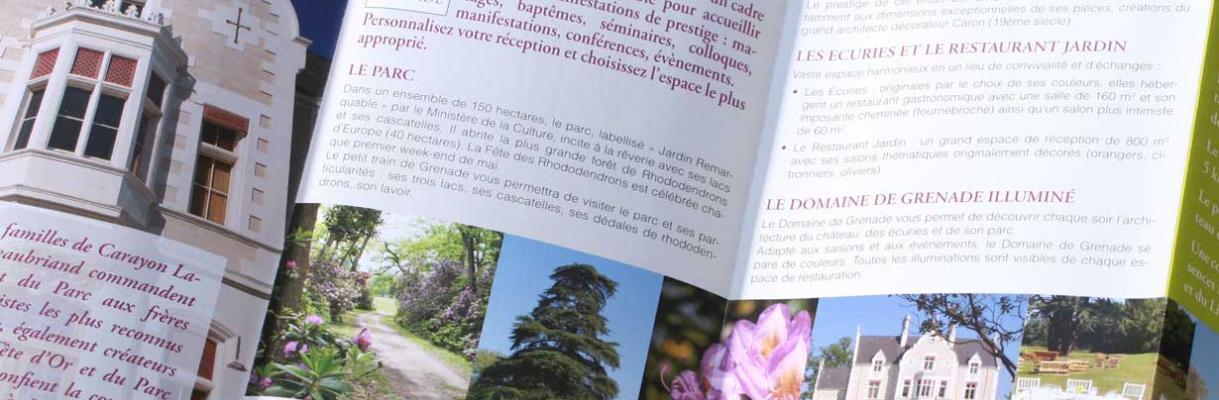 Bordeaux studio communication dépliant château