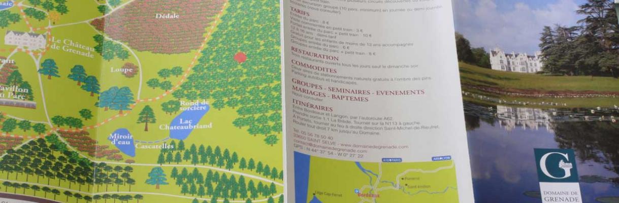 Bordeaux studio communication plaquette chateau